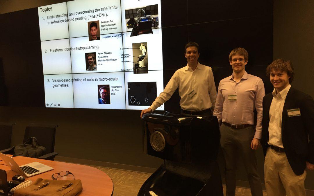 Mechanosynthesis group visits Oak Ridge Manufacturing Demonstration Facility